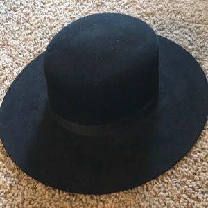 """STETSON """"Amelia"""" Fur Felt Black Hat- Size 7"""